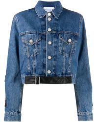 Helmut Lang Strap Trucker Denim Jacket - Blue