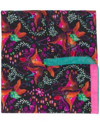 PS by Paul Smith Floral Print Scarf - Black