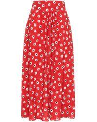 Miu Miu - Flower Print High Waisted Skirt - Lyst