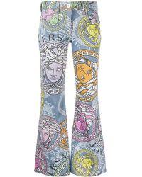 Versace Расклешенные Джинсы С Принтом Medusa Amplified - Синий