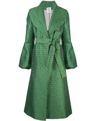 Rosie Assoulin Embroidered Belted Coat - Green