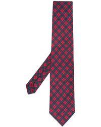 Etro Cravate à motif géométrique - Rose