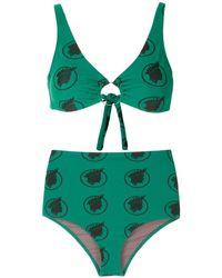 Amir Slama High Waist Bikini - Groen
