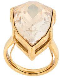 Oscar de la Renta Gallery Crystal-embellished Ring - Metallic