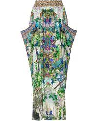 Camilla Moon Garden Shirred Maxi Skirt - Green