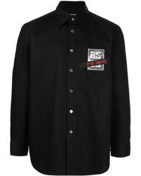 Raf Simons - Джинсовая Рубашка С Нашивкой-логотипом - Lyst