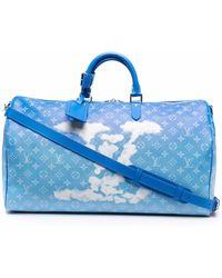 Louis Vuitton プレオウンド モノグラム キーポル ボストンバッグ - ブルー