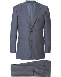 Gieves & Hawkes ジオメトリック スーツ - ブルー