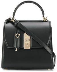 Ferragamo Handtasche mit Schloss - Schwarz