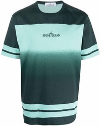 Stone Island T-shirt à effet dégradé - Vert