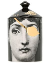 Fornasetti Golden Burlesque Scented Candle (300g) - Black