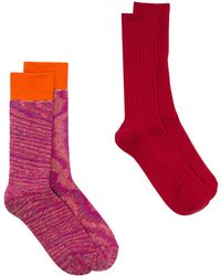 Anonymous Ism Multi Pack Knitted Socks - ピンク