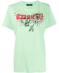 DIESEL - Camiseta con logo T-Daria-Yc - Lyst