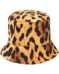 Manokhi Leopard Print Bucket Hat - Yellow