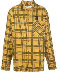 Off-White c/o Virgil Abloh Checked Arrows Detail Shirt - Yellow