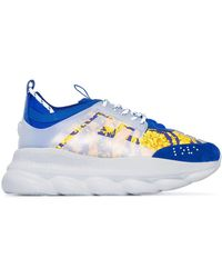 """Versace Sneakers """"Chain Reaction Heritage Baroque"""" - Azul"""