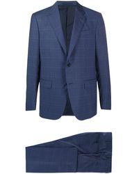 Ermenegildo Zegna チェック ツーピース スーツ - ブルー