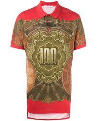 Givenchy - Dollar Print Polo Shirt - Lyst