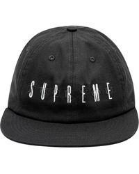 Supreme Logo 6-panel Cap - Black