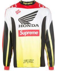 Supreme Camiseta de x Honda x Fox Racing Moto - Rojo