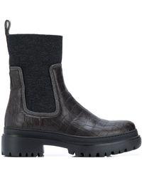 Brunello Cucinelli Ботинки Челси С Контрастной Вставкой - Черный