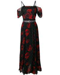 Karl Lagerfeld Платье Макси С Цветочным Принтом - Черный