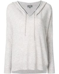 N.Peal Cashmere - Metal Trim Cashmere Hoodie - Lyst