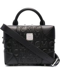 MCM - Schultertasche mit Logo-Prägung - Lyst