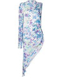MISBHV - Printed One-shoulder Dress - Lyst