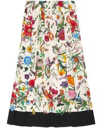 Gucci Flora snake print skirt - Multicolore