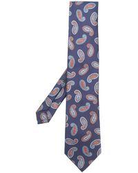 Etro Cravatta con motivo paisley - Blu