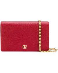 Gucci - GG Marmont Mini Chain Bag - Lyst