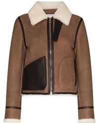 Loewe Shearling Aviator Jacket - Коричневый