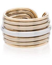 Fernando Jorge Metallic Groove 18k Gold Stacked Ring - Металлик