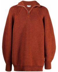 Sunnei ハーフジップ セーター - オレンジ