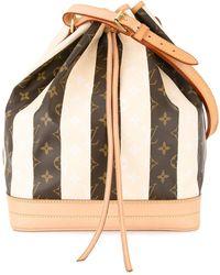 Louis Vuitton Pre-owned Noe Drawstring Monogram Shoulder Bag - Brown