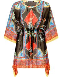 Dolce & Gabbana Graphic-print Beach Cover-up - Black