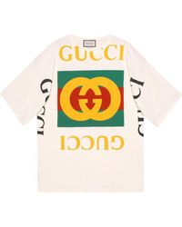 Gucci - Oversize T-shirt With Logo - Lyst
