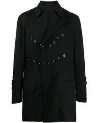 Yohji Yamamoto Button Detail Jacket - Black