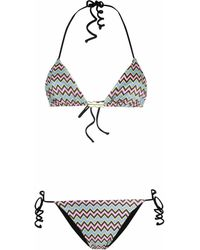 M Missoni Zig Zag Print Bikini Set - Blue