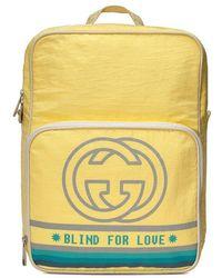 Gucci - Mittelgroßer Rucksack mit Logo - Lyst