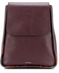 Paul Smith Foldover Slim Backpack - Red