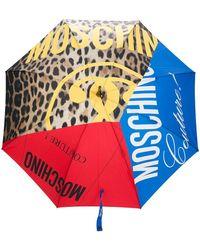 Moschino Зонт Со Вставками - Синий