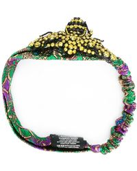 Gucci Crystal bee headband - Verde
