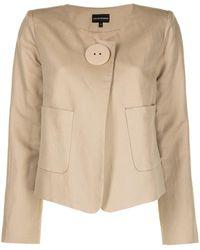 Emporio Armani シングルジャケット - ブラウン