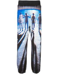 Undercover A Clockwork Orange-print Cotton Track Pants - Blue