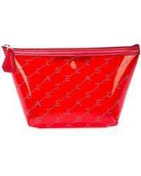Stella McCartney Monogram Make Up Bag - Red