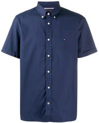 Tommy Hilfiger ロゴ シャツ - ブルー