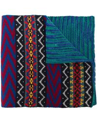 Missoni Pattern mix scarf - Bleu