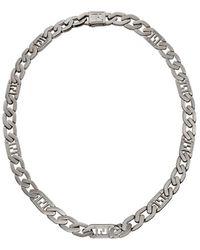 Fendi Collar de cadena con motivo FF - Metálico
